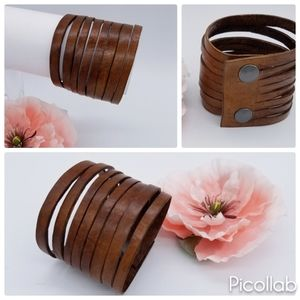 Jewelry - Genuine Leather Cuff in Bison Brown